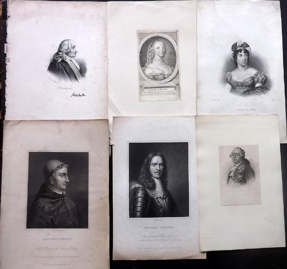 Portraits 18th-19th Century Lot of 26. European - 2