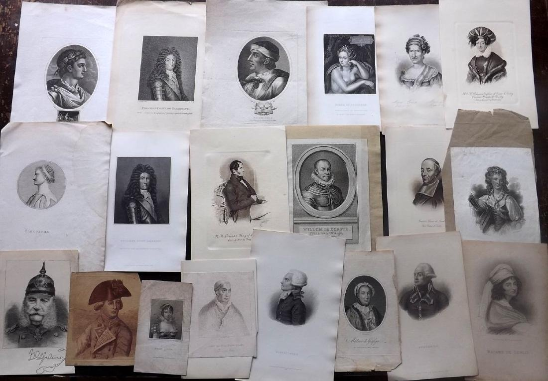 Portraits 18th-19th Century Lot of 29. European
