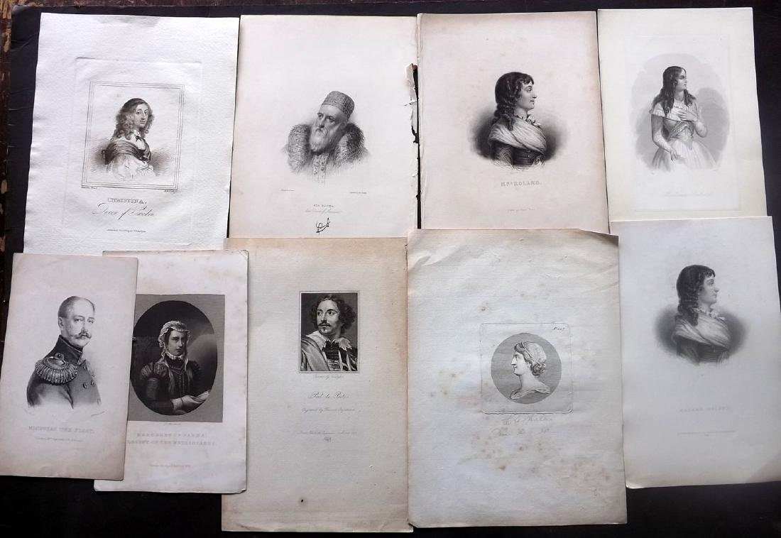 Portraits 18th-19th Century Lot of 29. European - 2