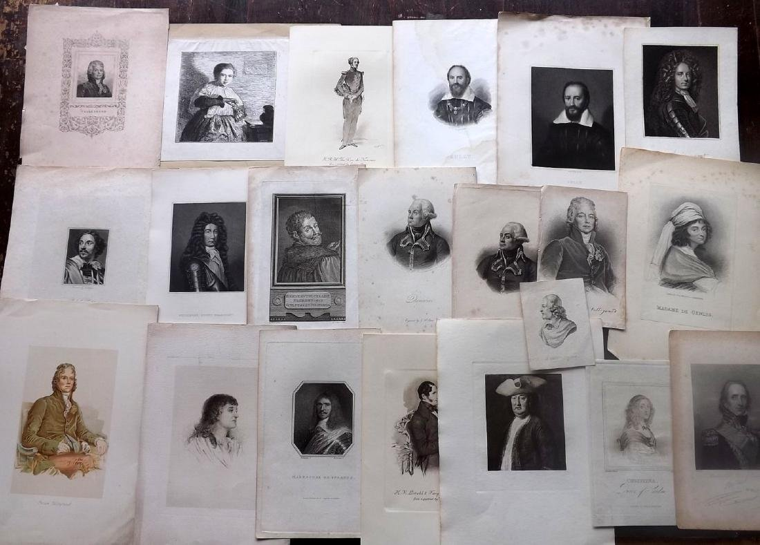 Portraits 18th-19th Century Lot of 44. European