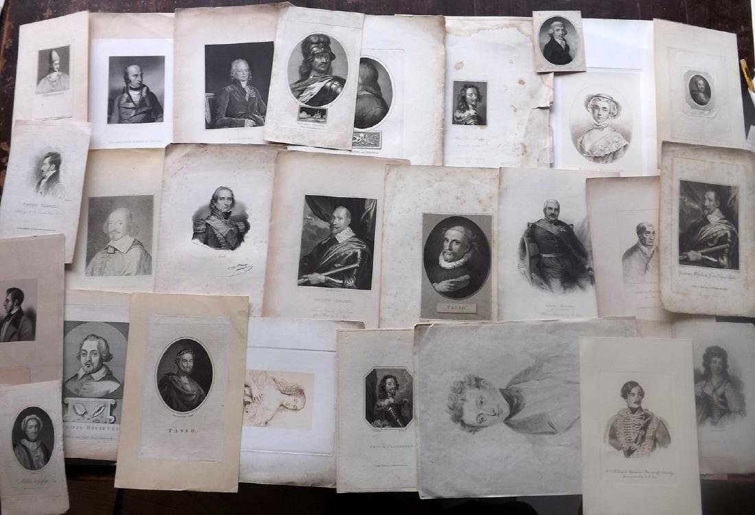 Portraits 18th-19th Century Lot of 44. European - 2