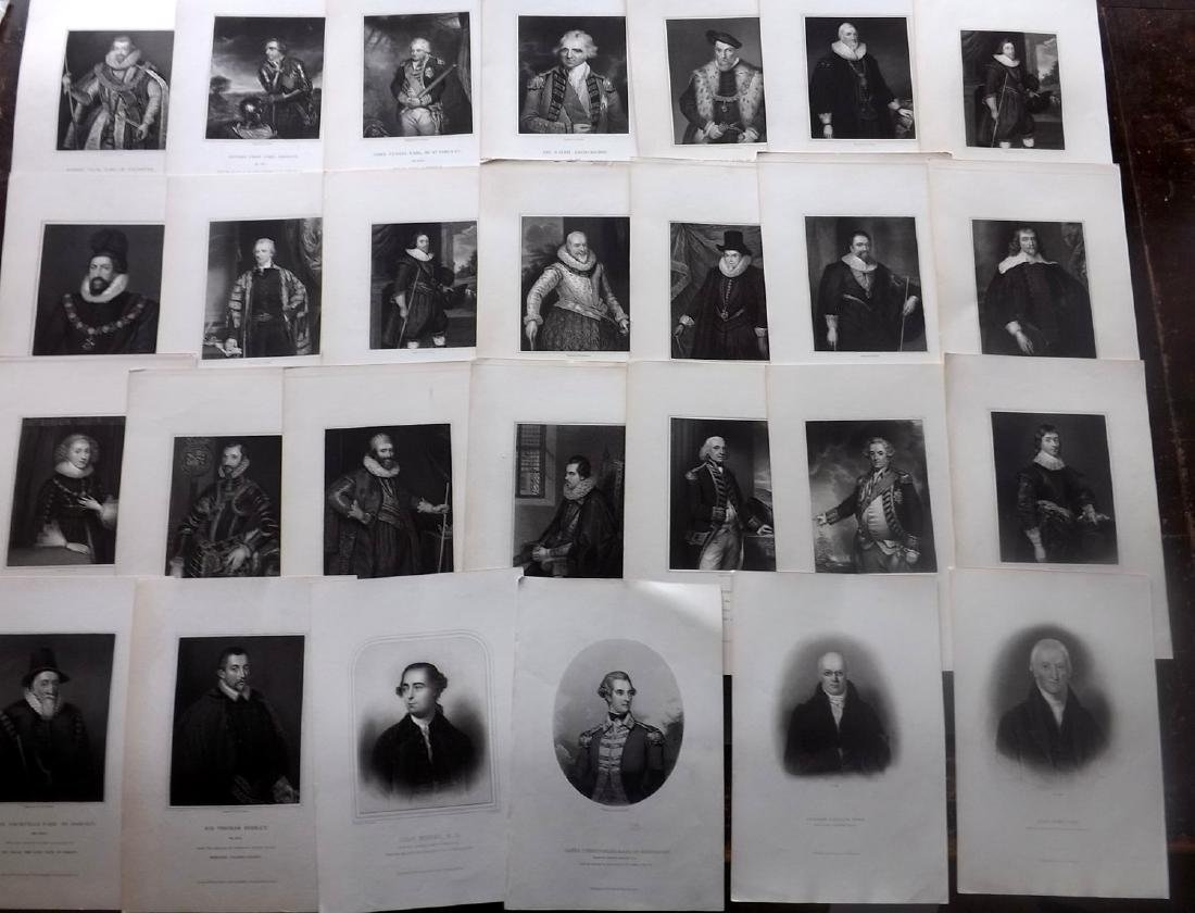 Portraits 19th Century Lot of 45. British. Clean - 2