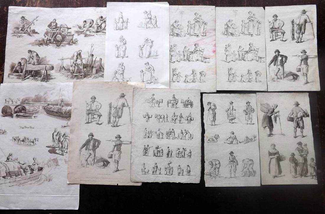 Rustic Figures C1800-20 Lot 18 Prints by Pyne/Ackermann