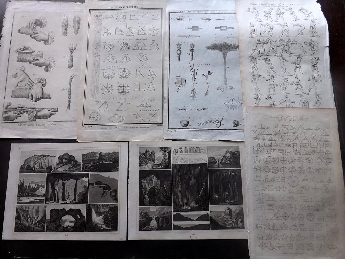 Science & Tech 18th-19th Century Lot of 7. Folio
