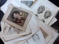Mixed Folio Prints 18th19th Century Lot of 65