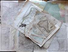Damaged Maps 18th19th Cent Lot of 18