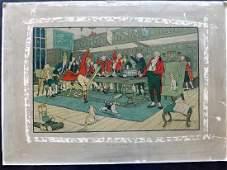 Aldin Cecil C1900 Large Print The Hunt Supper Rare