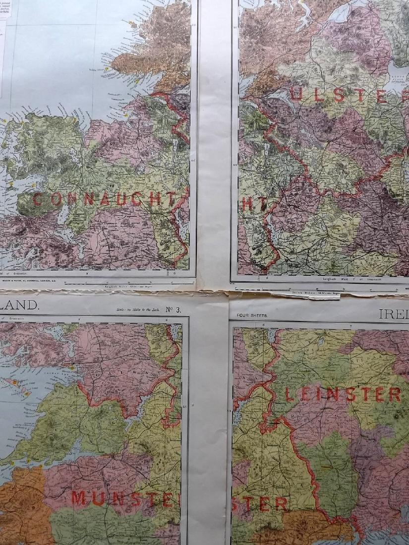 Ireland C1880's Set of 4 Maps by Letts - 2