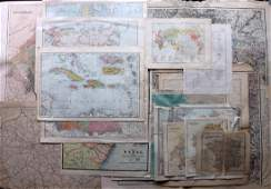 Maps C1800C1940 Mixed Lot of 16