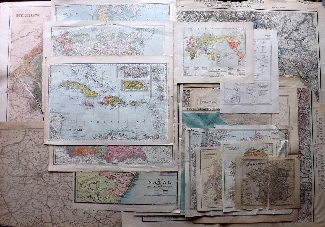 Maps C1800-C1940 Mixed Lot of 16