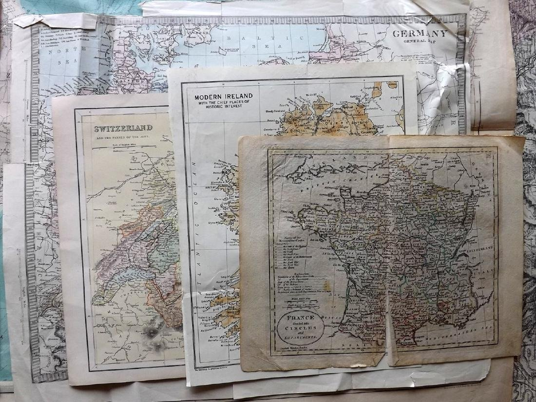 Maps C1800-C1940 Mixed Lot of 16 - 2