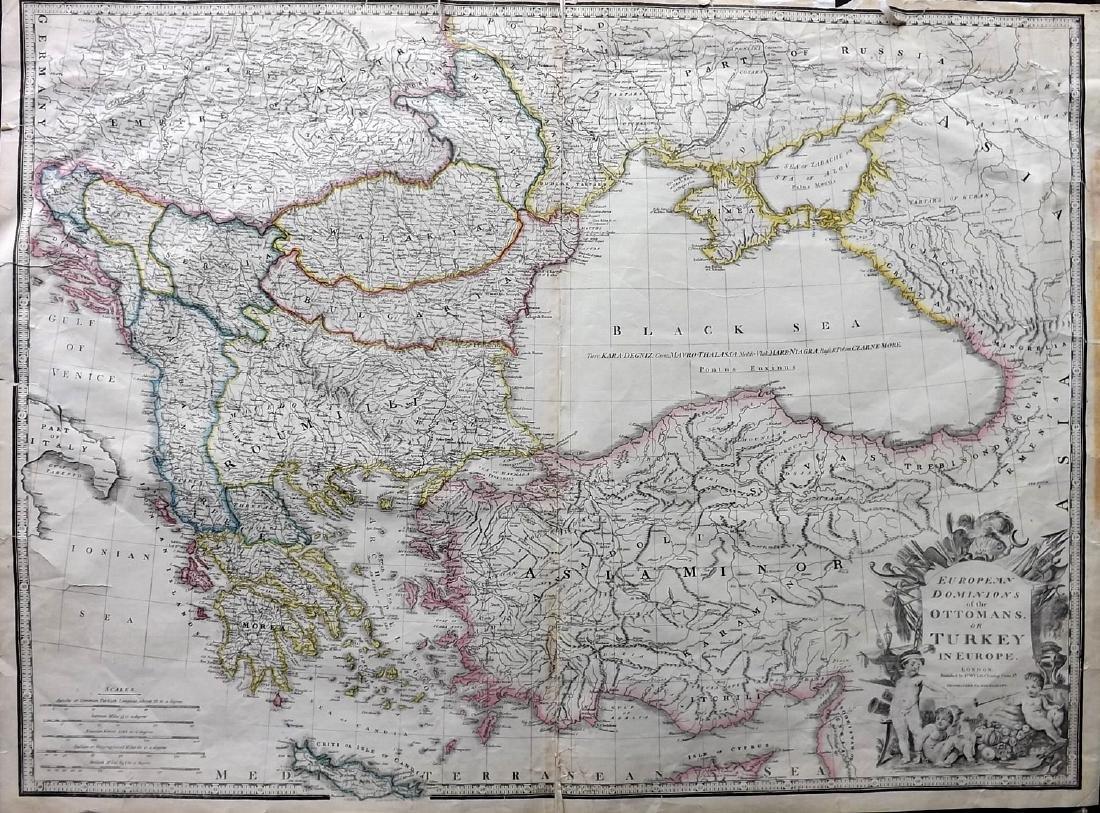 Wyld, James C1850's Map of Turkey & Ottoman Empire