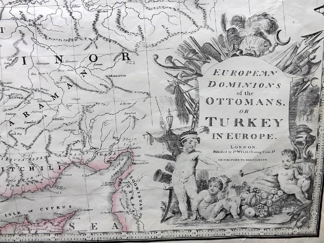 Wyld, James C1850's Map of Turkey & Ottoman Empire - 2