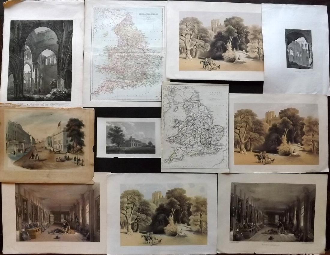 British Views & Maps 19th Century Lot of 11