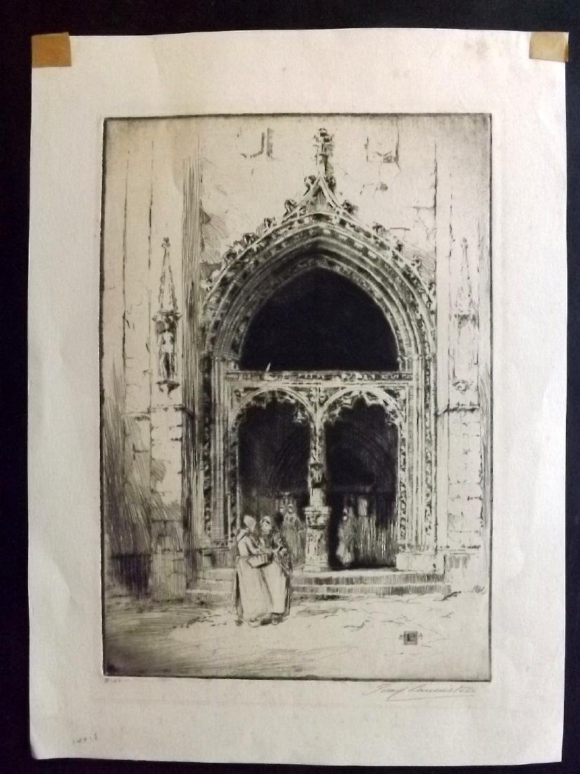 Lancaster, Percy 1910 Pencil Signed Etching
