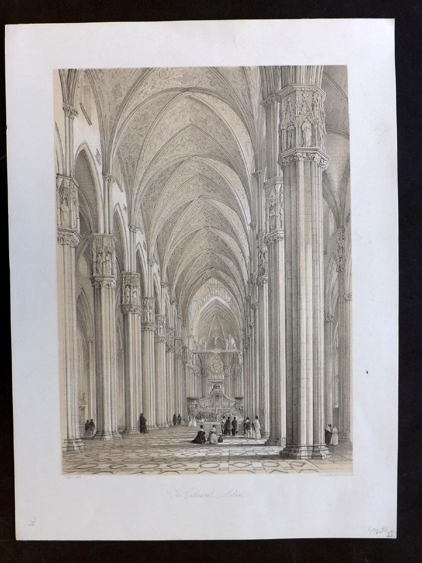 Moore, George 1843 Architectural Print. Milan Cathedral