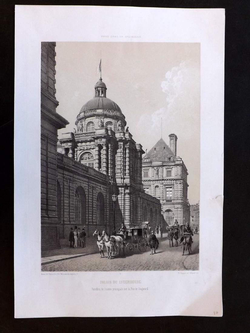 Paris dans sa Splendeur 1863 LG Print Palais Luxembourg