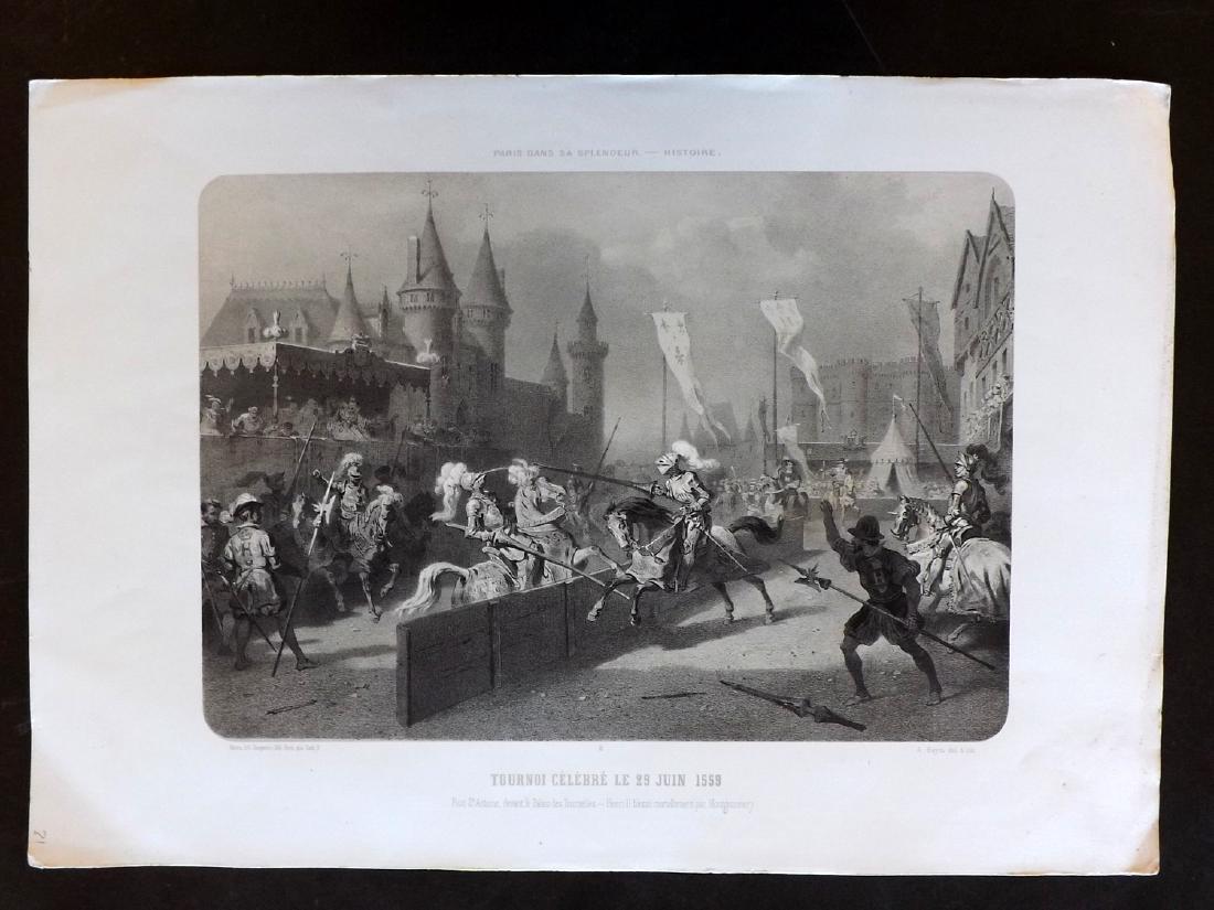 Paris dans sa Splendeur 1863 LG Print. Tournoi Celebre