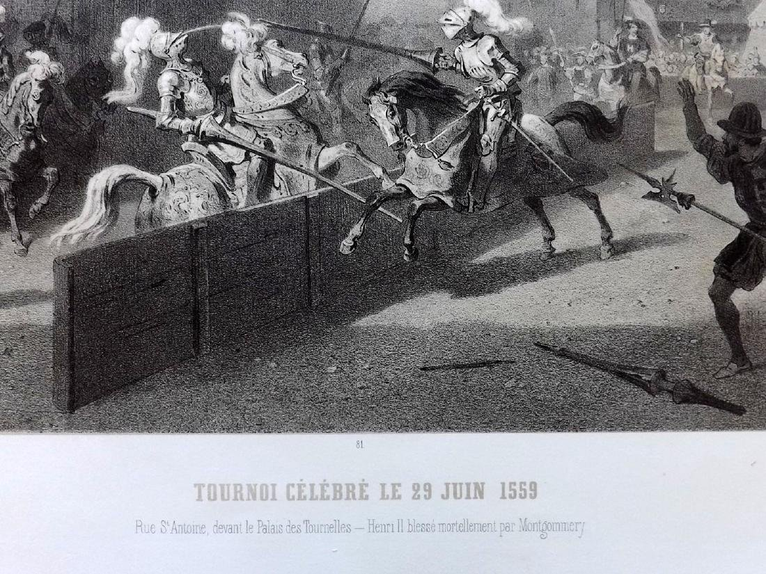 Paris dans sa Splendeur 1863 LG Print. Tournoi Celebre - 2