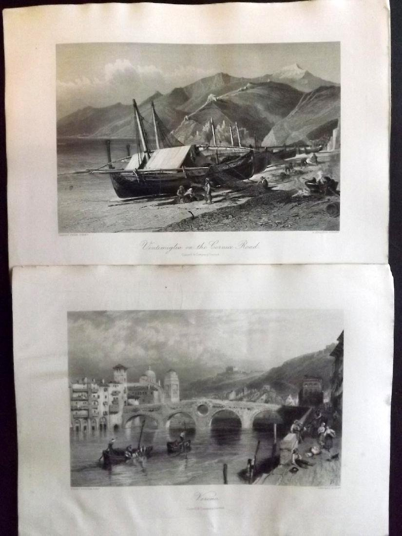Picturesque Europe C1875 Lot of 12 Engravings. Italy - 2