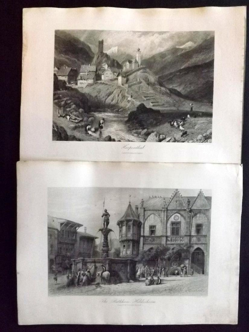 Picturesque Europe C1875 Lot of 15 Steel Engravings - 2