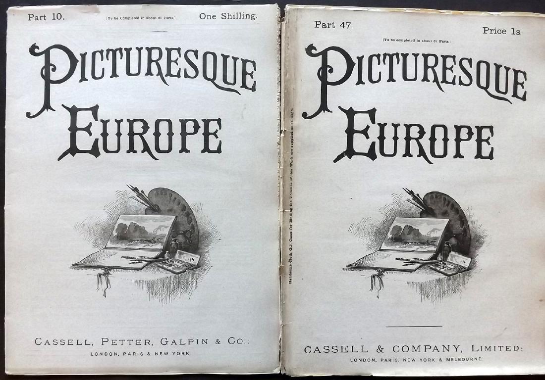 Picturesque Europe C1875 Lot of 550 Illus. Sheets - 3