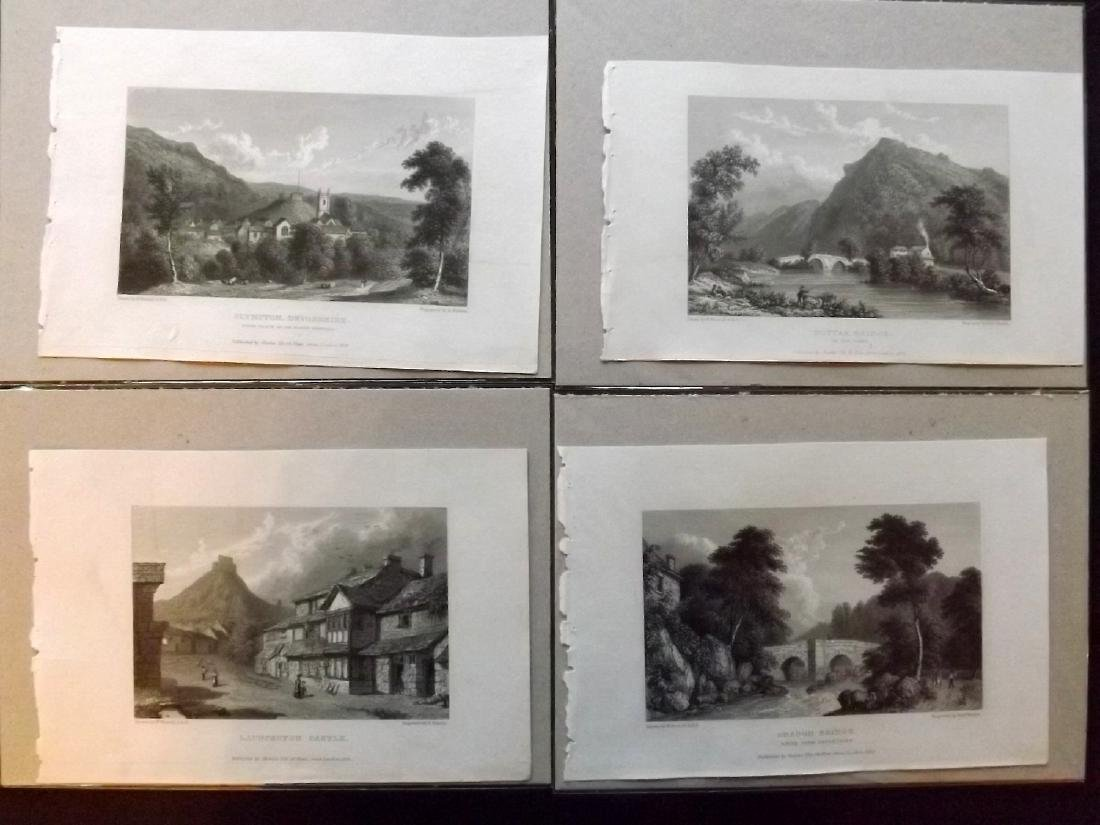 Westall, William 1830 Lot of 9 Mounted British Views - 2