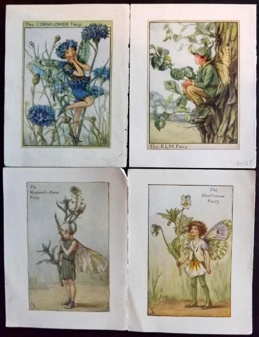 Barker, Cicely Mary C1940 Lot 15 Flower Fairies Prints - 2