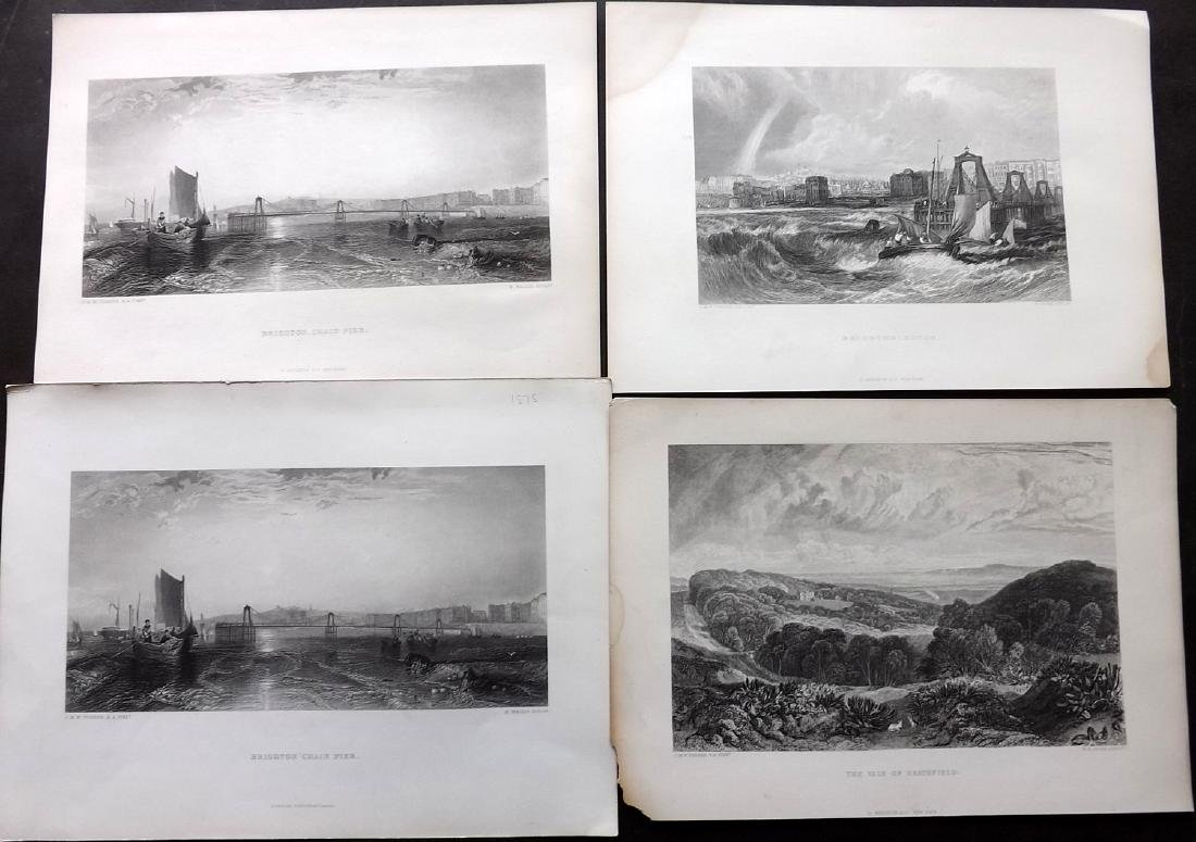 After J. M. W. Turner 1879 Lot of 6 Landscape Views