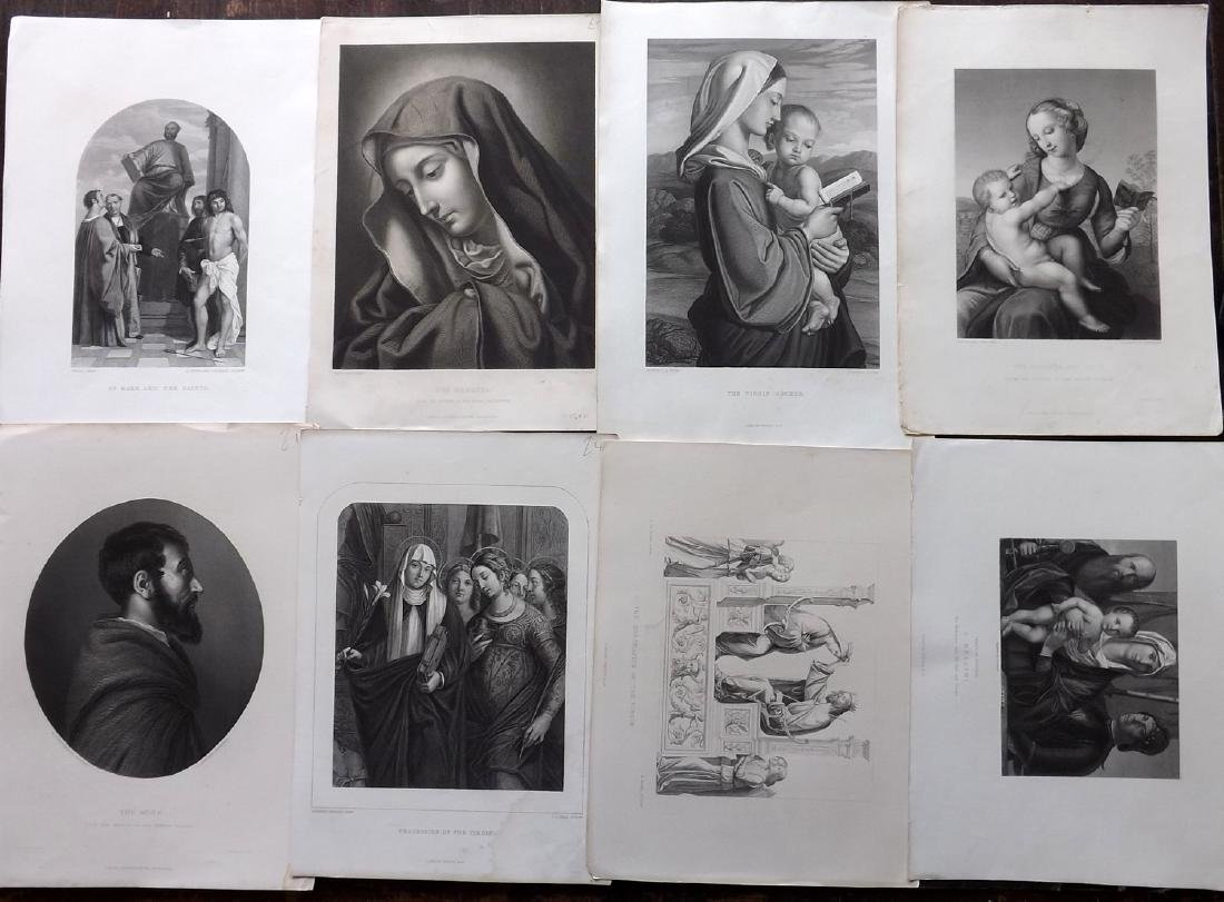 Art Journal C1860 Lot of 8 Steel Engravings. Religious