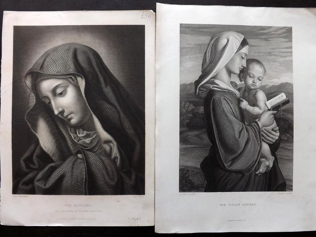 Art Journal C1860 Lot of 8 Steel Engravings. Religious - 2
