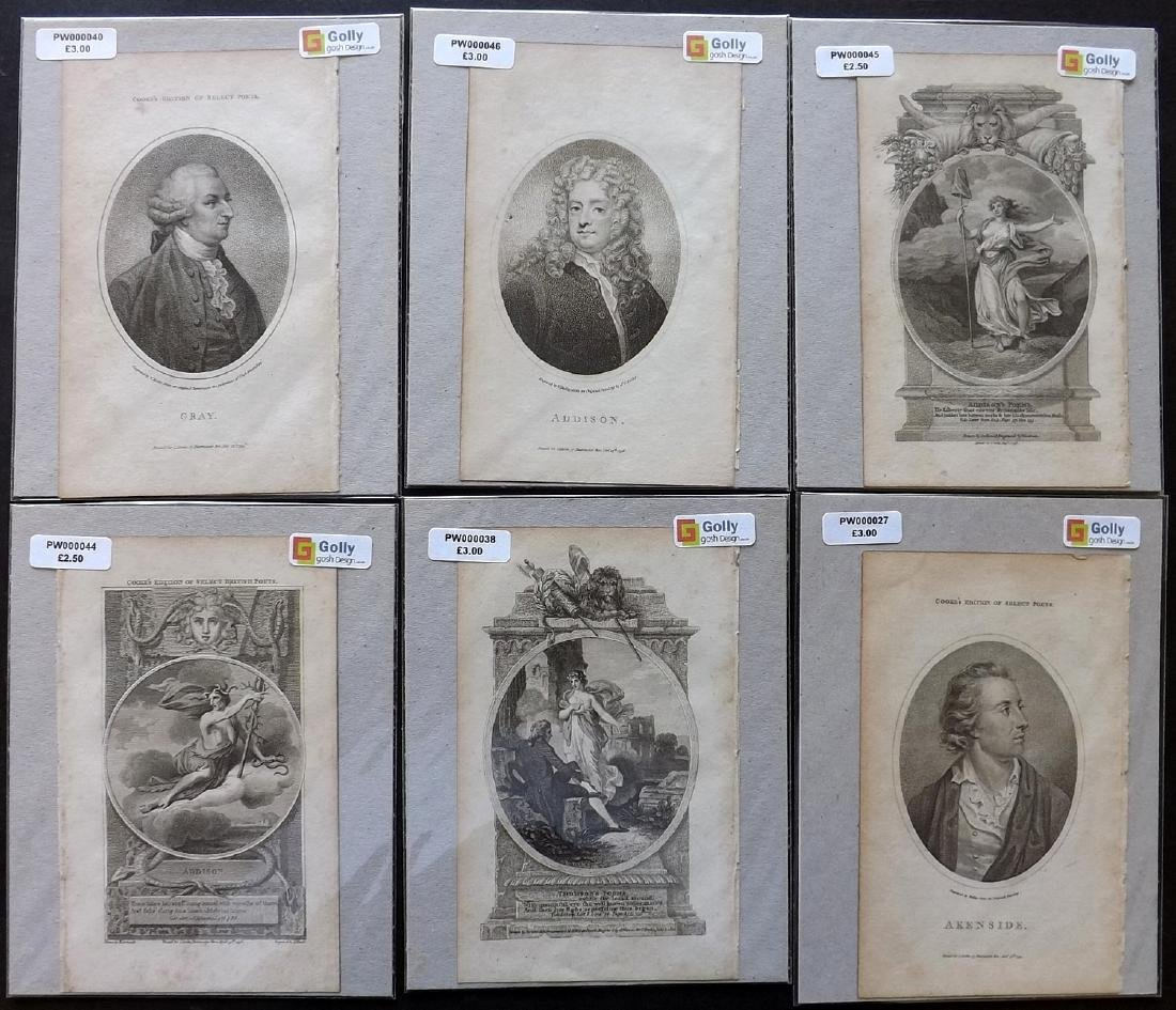 Classical Engravings C1794 Lot of 29. Poetry, Romantic - 2