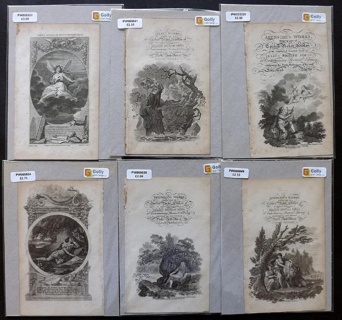 Classical Engravings C1794 Lot of 29. Poetry, Romantic - 3
