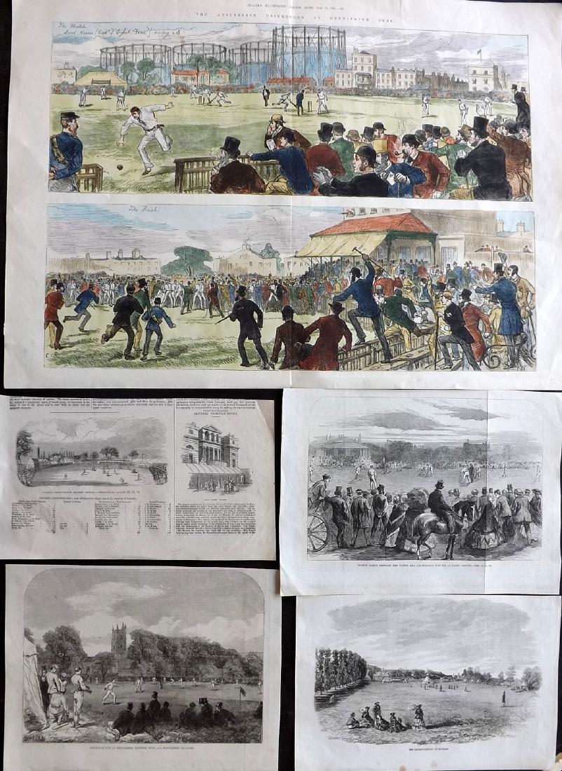 Cricket 1880 LG Hand Col Print, Australian, plus 3