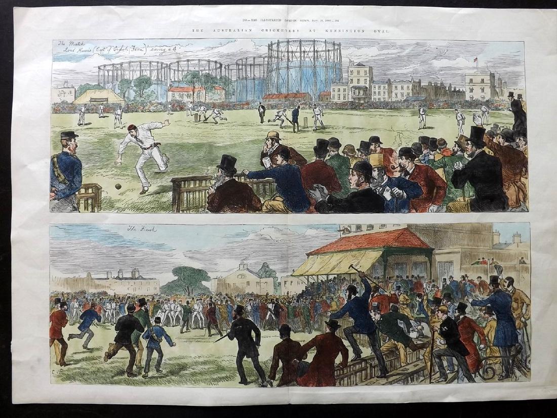 Cricket 1880 LG Hand Col Print, Australian, plus 3 - 2