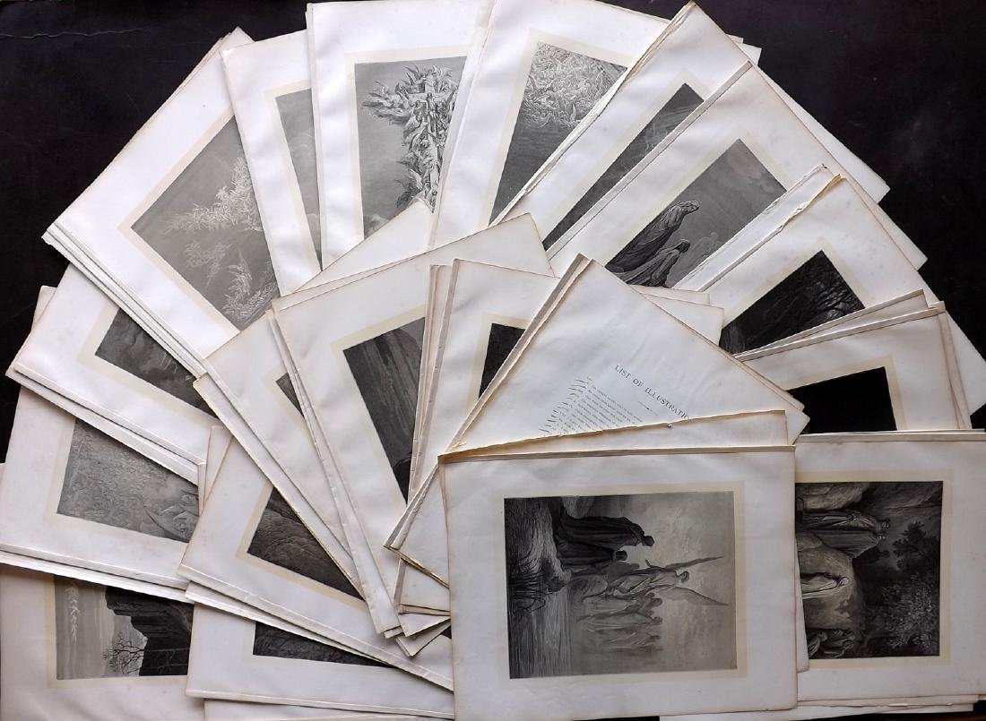Dore, Gustave C1880 Lot of 49 Large Prints