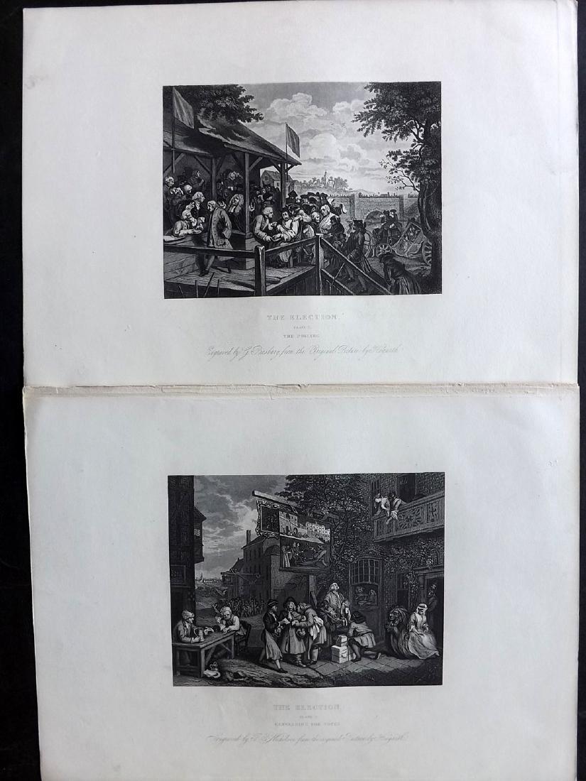 Hogarth, William C1860 Lot of 33 Steel Engravings - 2