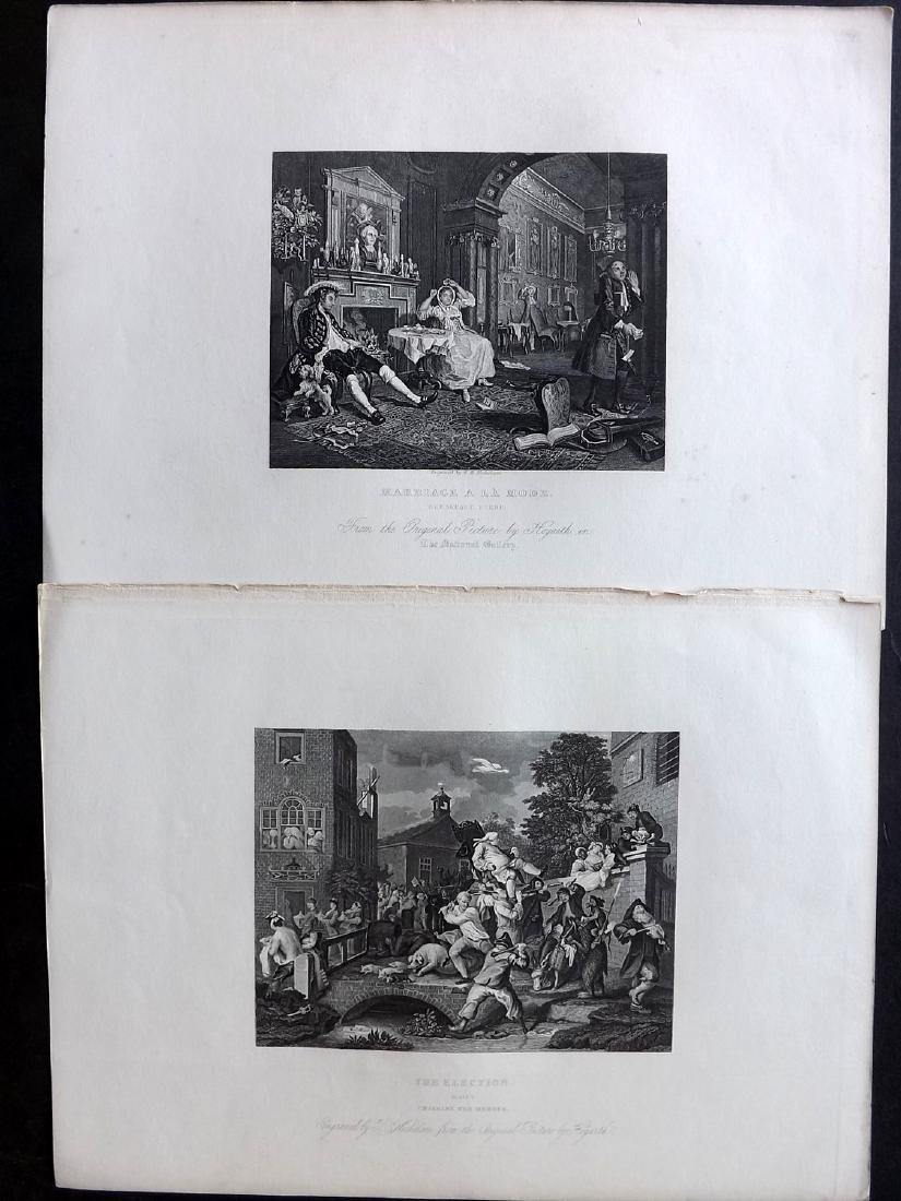 Hogarth, William C1860 Lot of 33 Steel Engravings - 3
