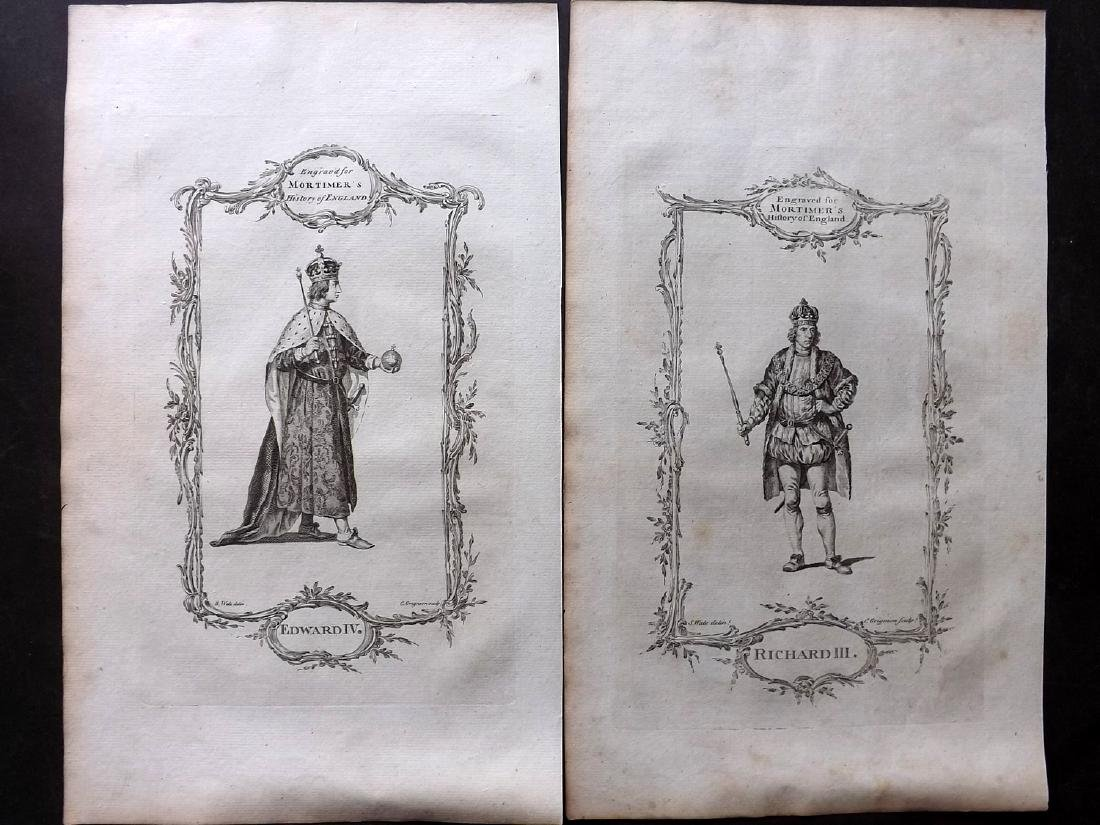 Portraits 1766 Lot of 31 British Royalty, Folio by - 3