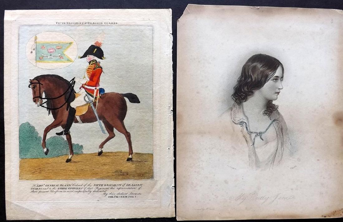 Portraits 1766-C1860 Lot of 5 Hand Coloured Prints - 2