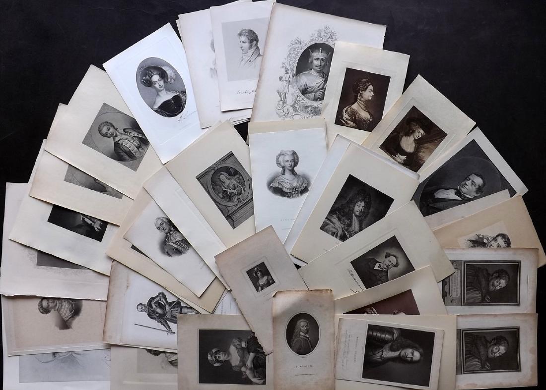 Portraits 18th-19th Century Lot of 46. European