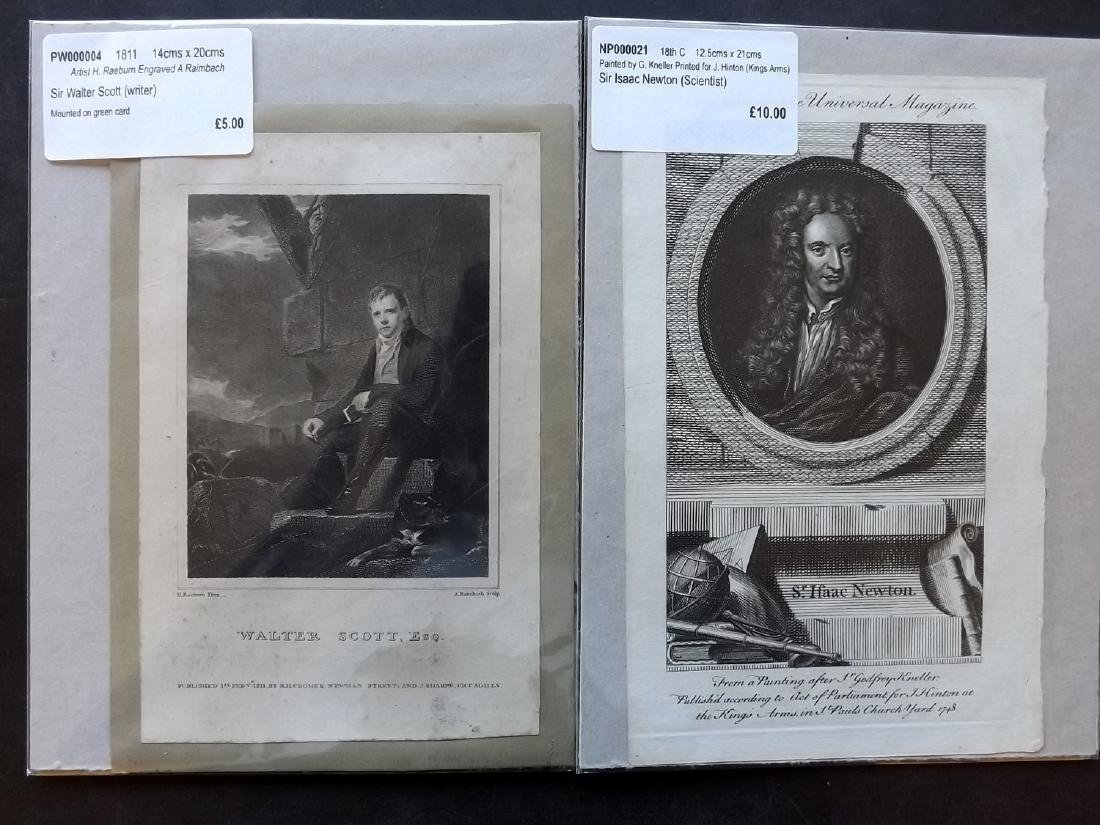 Portraits 18th-19th Century Lot of 90, Mounted - 2