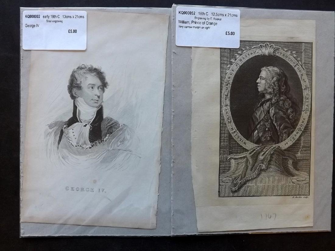 Portraits 18th-19th Century Lot of 90, Mounted - 3
