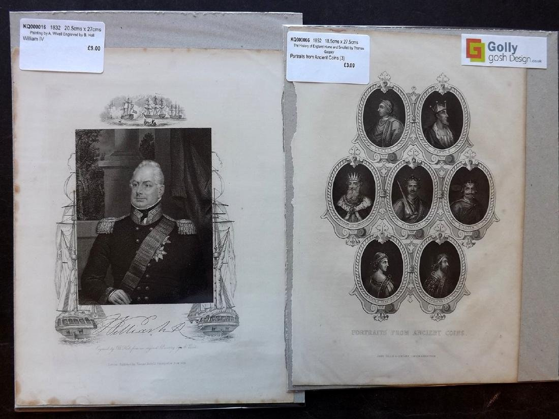 Portraits 18th-19th Century Lot of 90, Mounted - 4