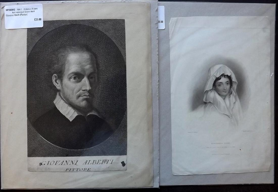 Portraits 18th-19th Century Lot of 90, Mounted - 6