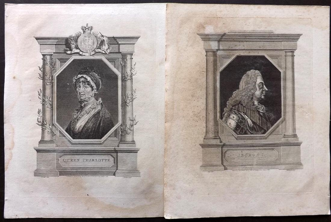Portraits 18th-19th Lot of 68 British, European, Indian - 4