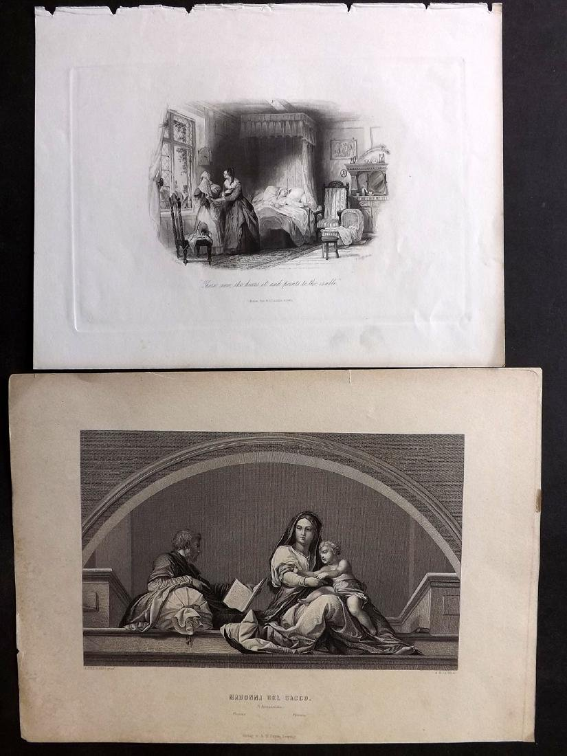 Steel Plate 19th Cent Lot of 35 Steel Engravings - 2