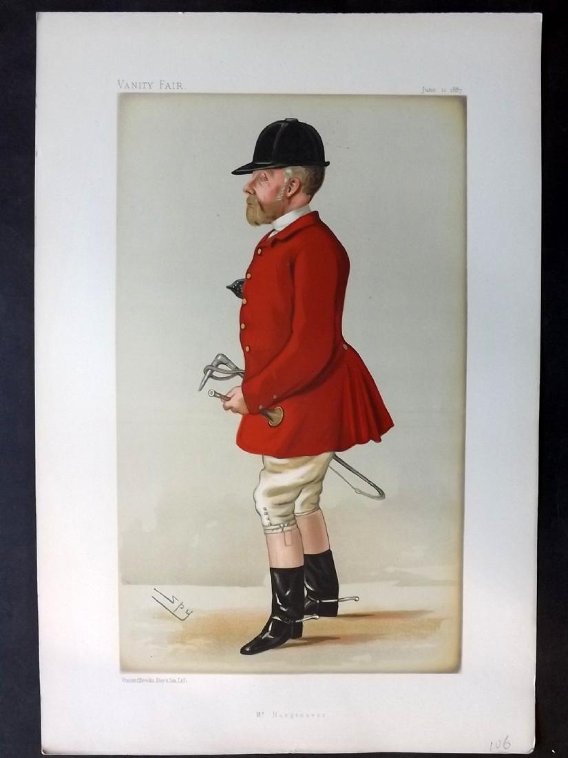 Vanity Fair Print 1887 John Hargraves, Fox Hunter