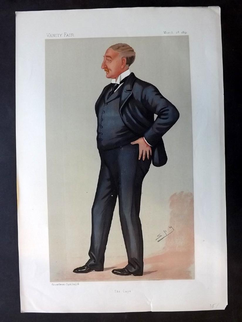 Vanity Fair Print 1891 Cecil Rhodes, Spy Cartoon