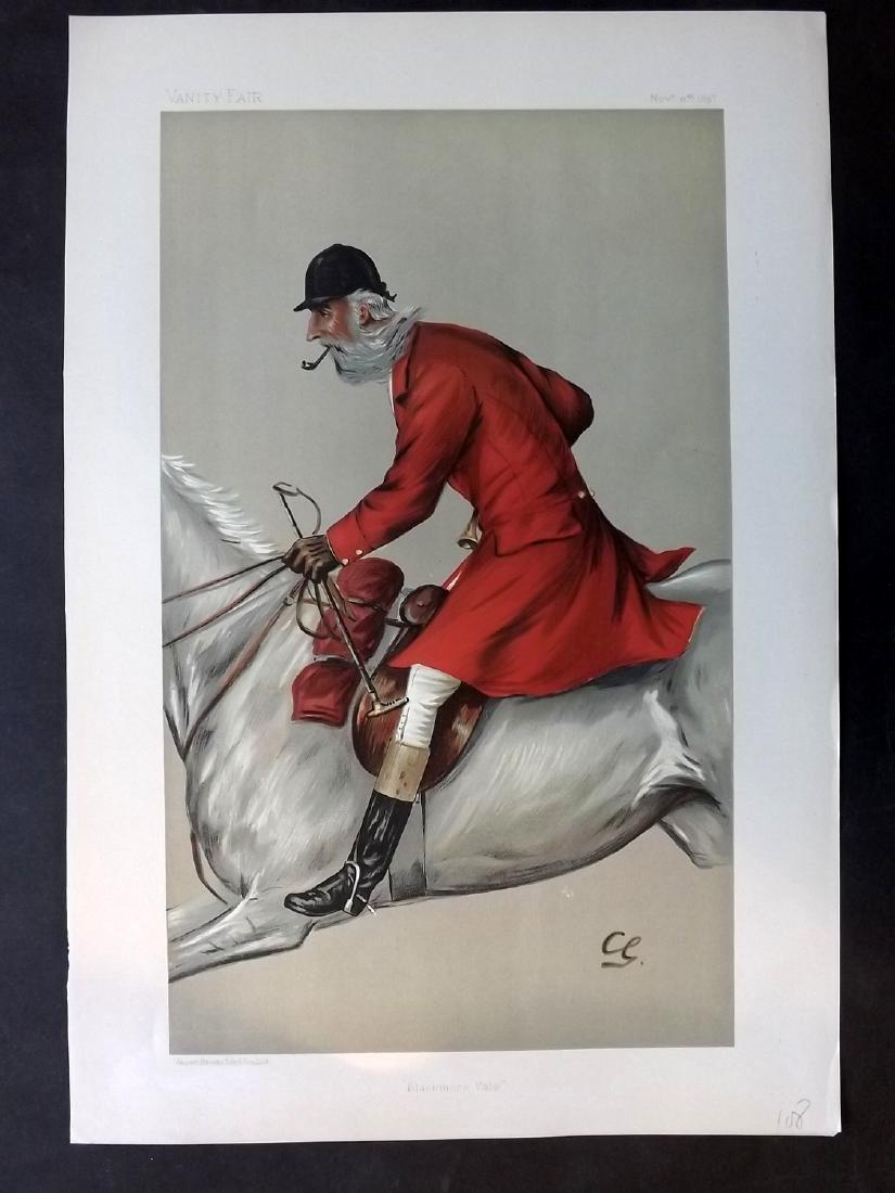Vanity Fair Print 1897 Thomas Merthy Guest, Fox Hunter
